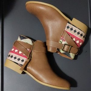 H&M Loves Coachella Leather Ankle Boots